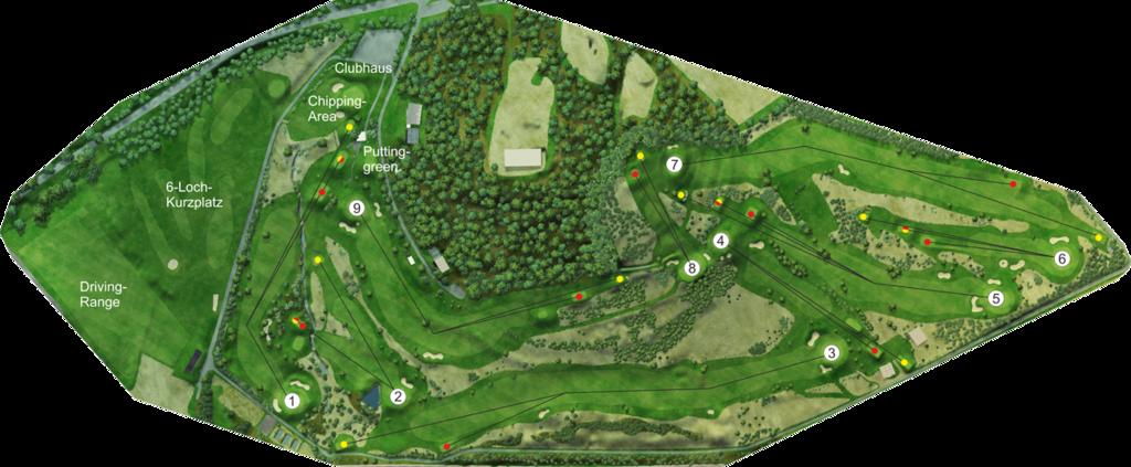 Platzübersicht Golfclub Brilon