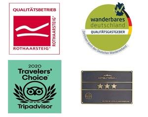 Auszeichnungen Hotel Garni Zur alten Post Willingen
